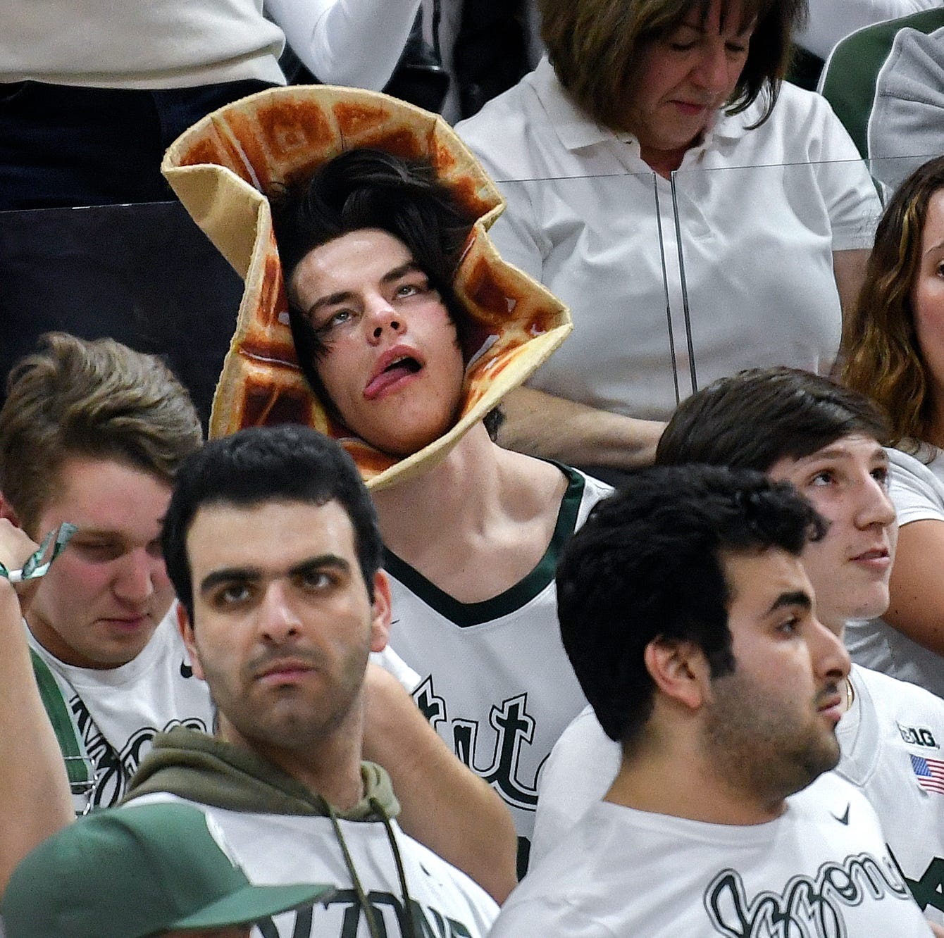 Meet Michigan State's 'Waffle Guy,' who got ESPN airtime for basketball game antics