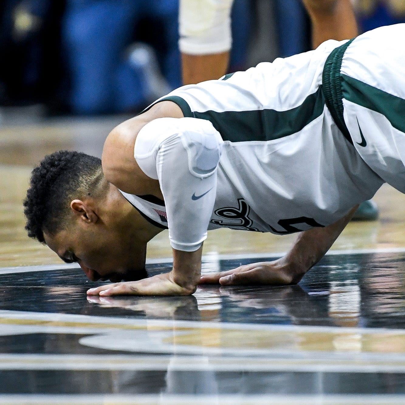 Michigan State's Kenny Goins fulfills his promise to his uncle – and then some