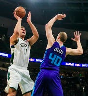Brook Lopez gave the Bucks a charge with 18 points in the third quarter, with most coming from shots inside the paint and free throws, against the Hornets on Saturday night.