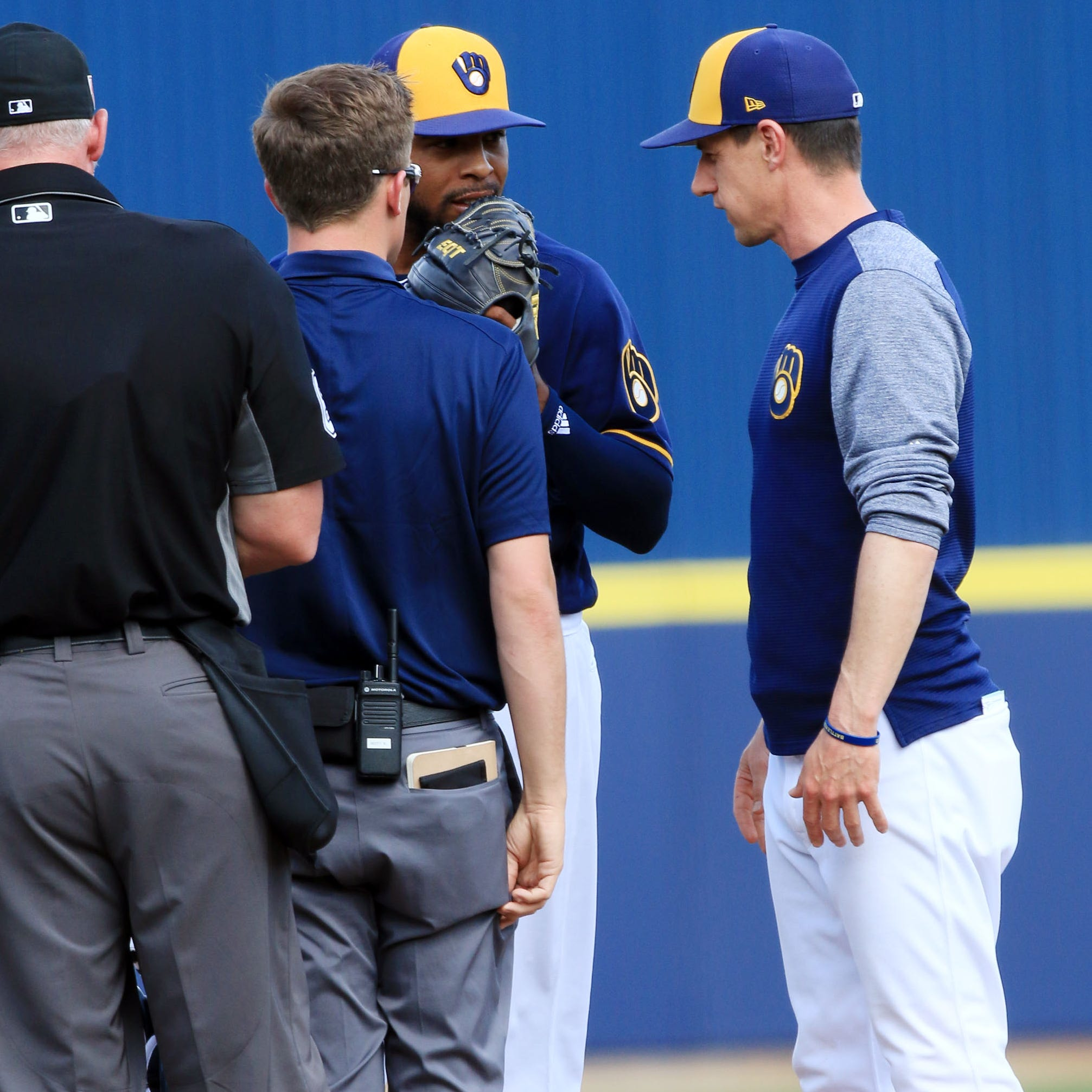 Two Brewers relievers were shut down during spring training. Did last year's run contribute to their injuries?