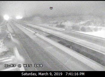 I-43 is empty as roads were cleared to handle multiple crashes