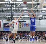 After both teams exchanged runs, Chargers forward Patrick Baldwin Jr. sent the game into overtime, where the Lancers punched their ticket to state