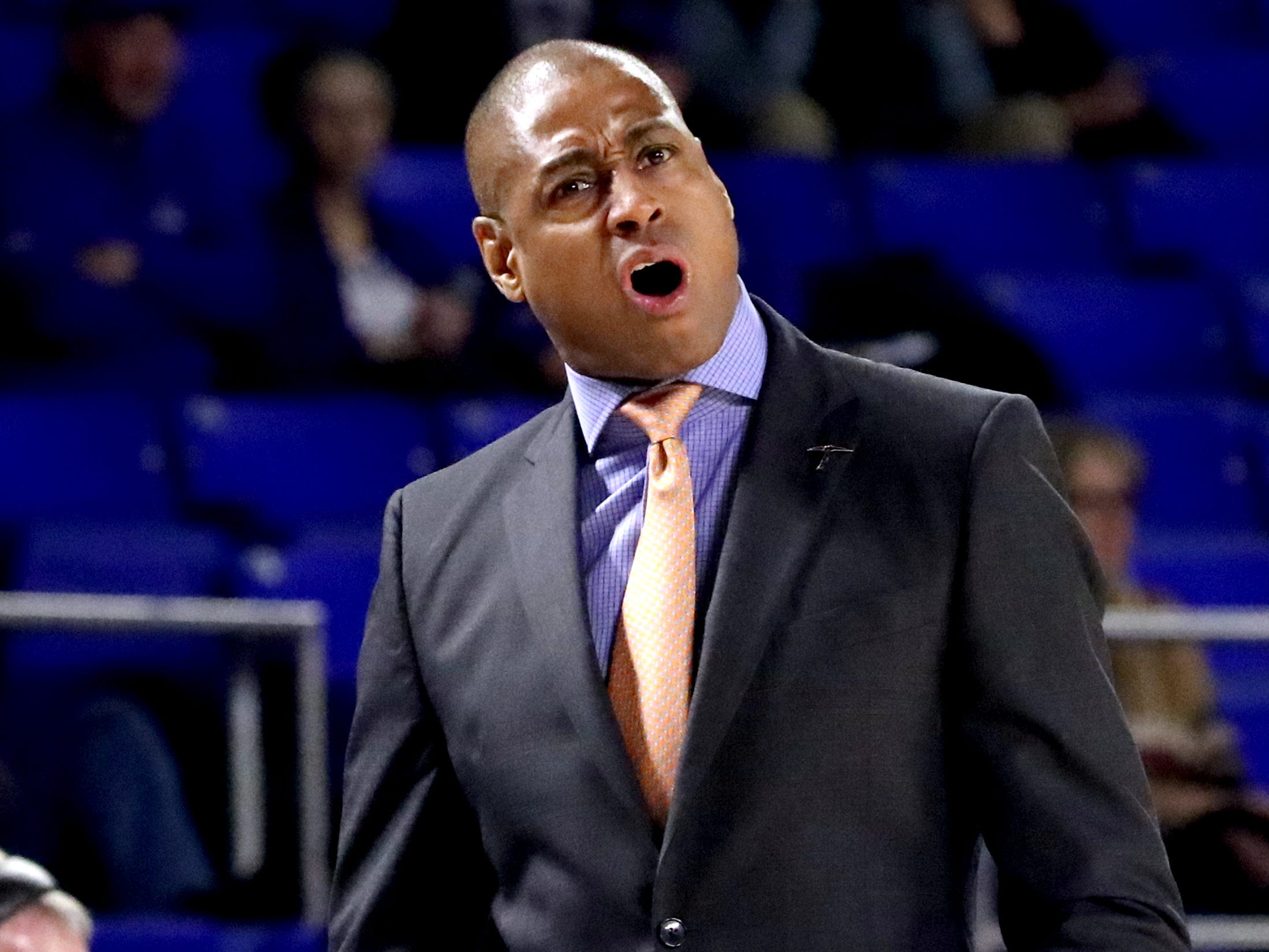 UTEP head coach Rodney Terry on the sidelines during the game against the MTSU on Saturday, March 9, 2019, at Murphy Center in Murfreesboro, Tenn.