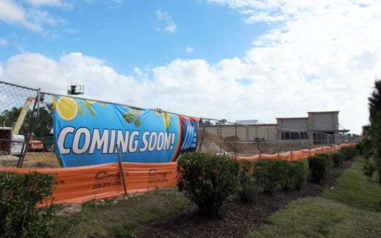 The third Aldi grocery store in the Naples area is targeted to open in early summer on the southeast corner of U.S. 41 East and Collier Boulevard.