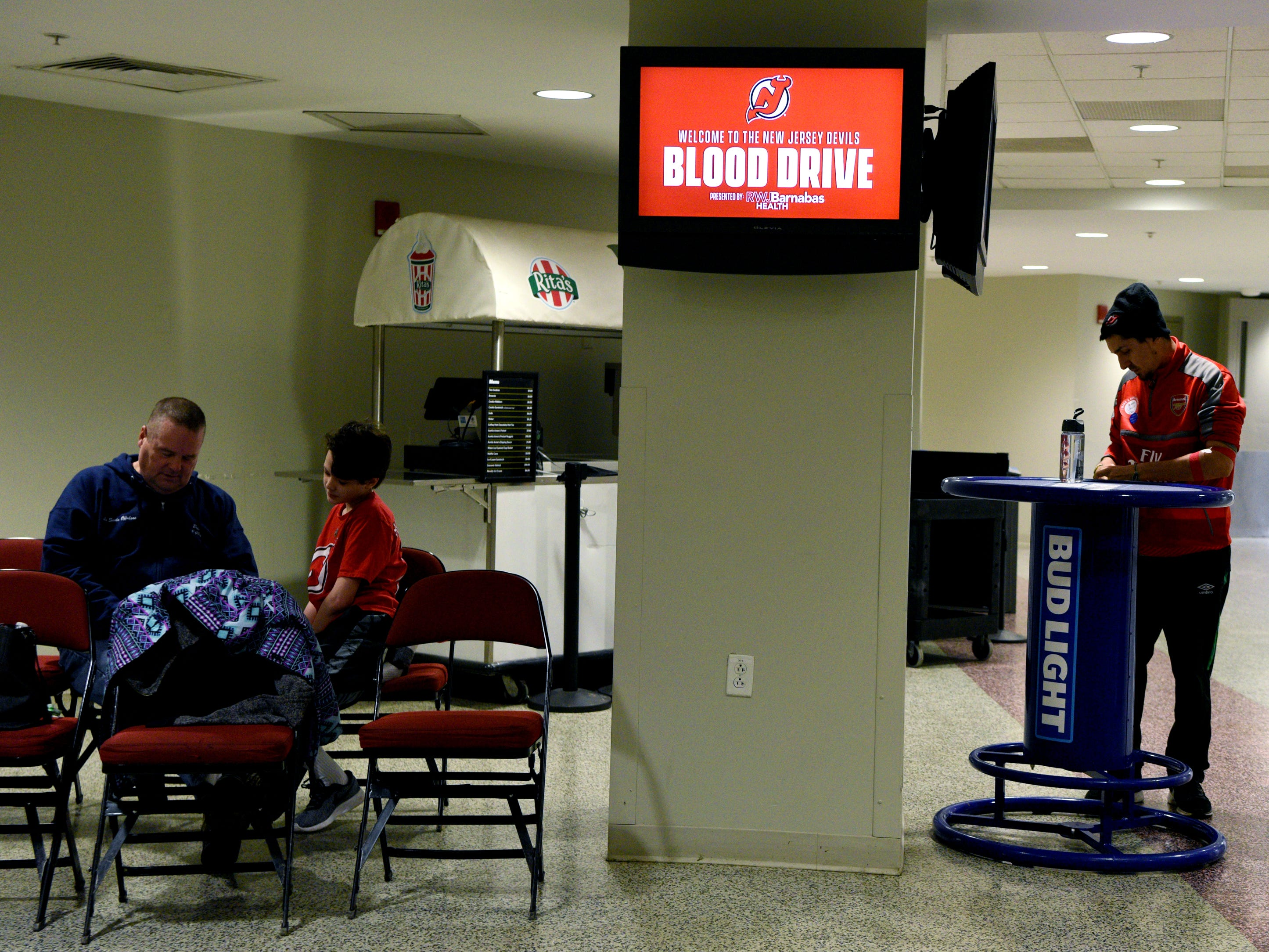 The New Jersey Devils and RWJBarnabas Health hosted their third annual blood drive in coordination with the American Red Cross on Sunday, March 10, 2019 at the Prudential Center in Newark.
