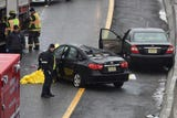 Two people were killed in a crash on Route 80 W near Madison Ave. exit in Paterson on Sunday, March 10, 2019.