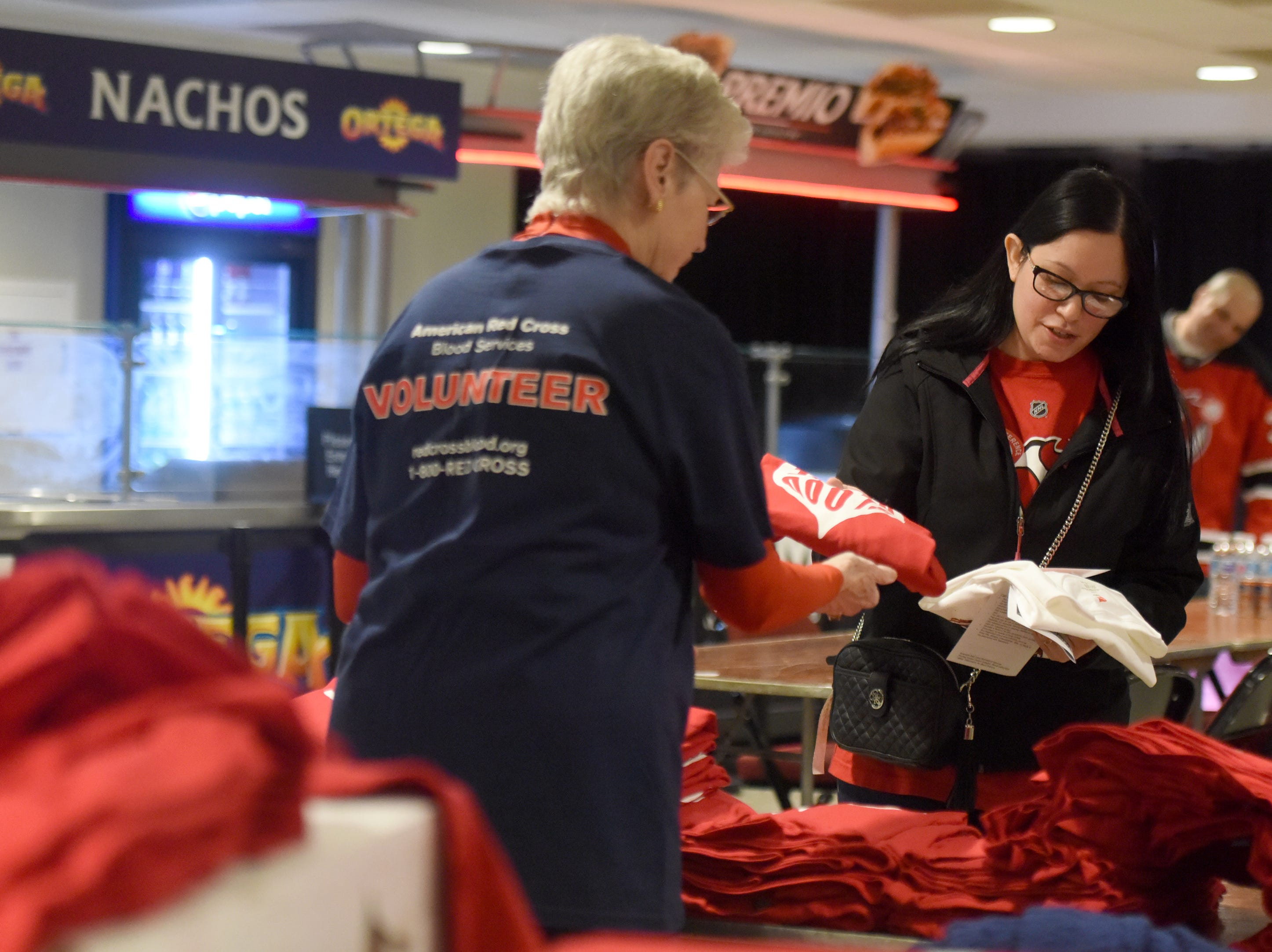 The New Jersey Devils and RWJBarnabas Health hosted their third annual blood drive in coordination with the American Red Cross on Sunday, March 10, 2019 at the Prudential Center in Newark. Blood donors received free t-shirts and a voucher for Devils tickets.