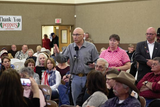 Mick Rich of Albuquerque, who ran for U.S. Senator Martin Heinrich's seat in 2018, spoke at a border security town hall in Deming on Saturday, March 9, 2019.