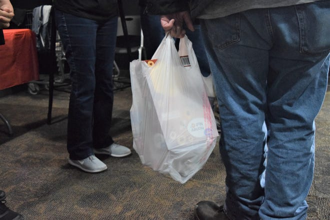 Families were able to take home a bag of groceries from a Soles4Souls event Saturday, March 9, 2019 at Las Cruces First Assembly of God. The church regularly provides groceries for more than 150 families each month.