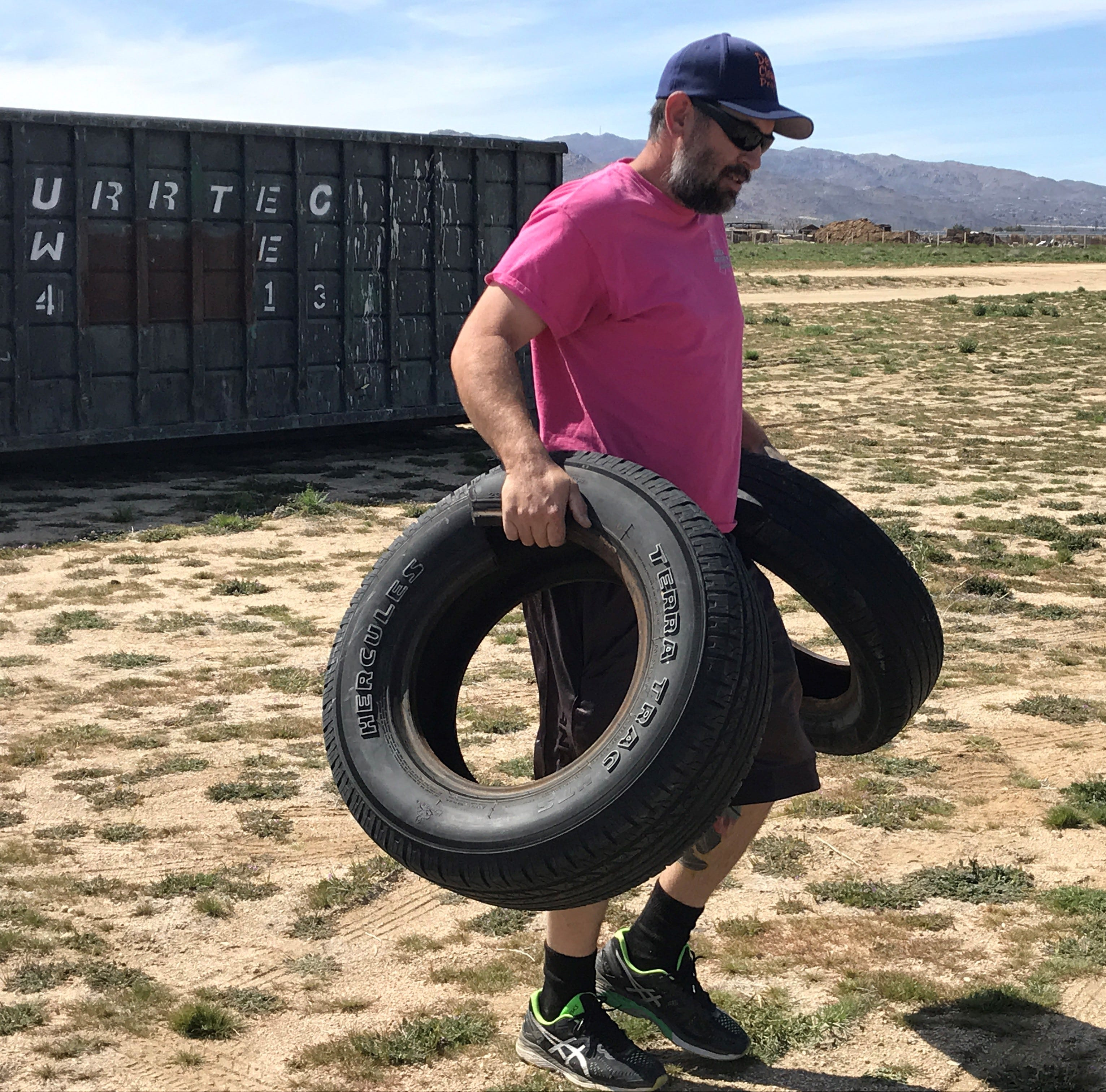 This Joshua Tree family wants to get rid of trash in the high desert — one rusty nail at a time