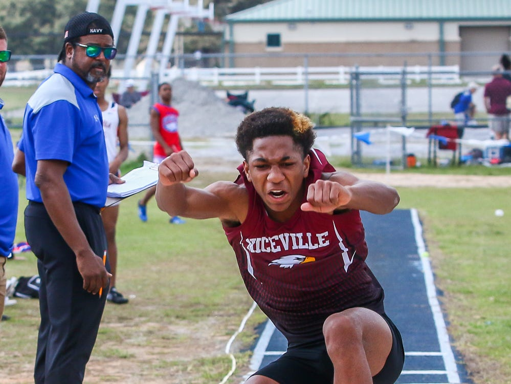 Athletes compete on Saturday, March 9, 2019, during the Aggie Invitational at Washington High School.