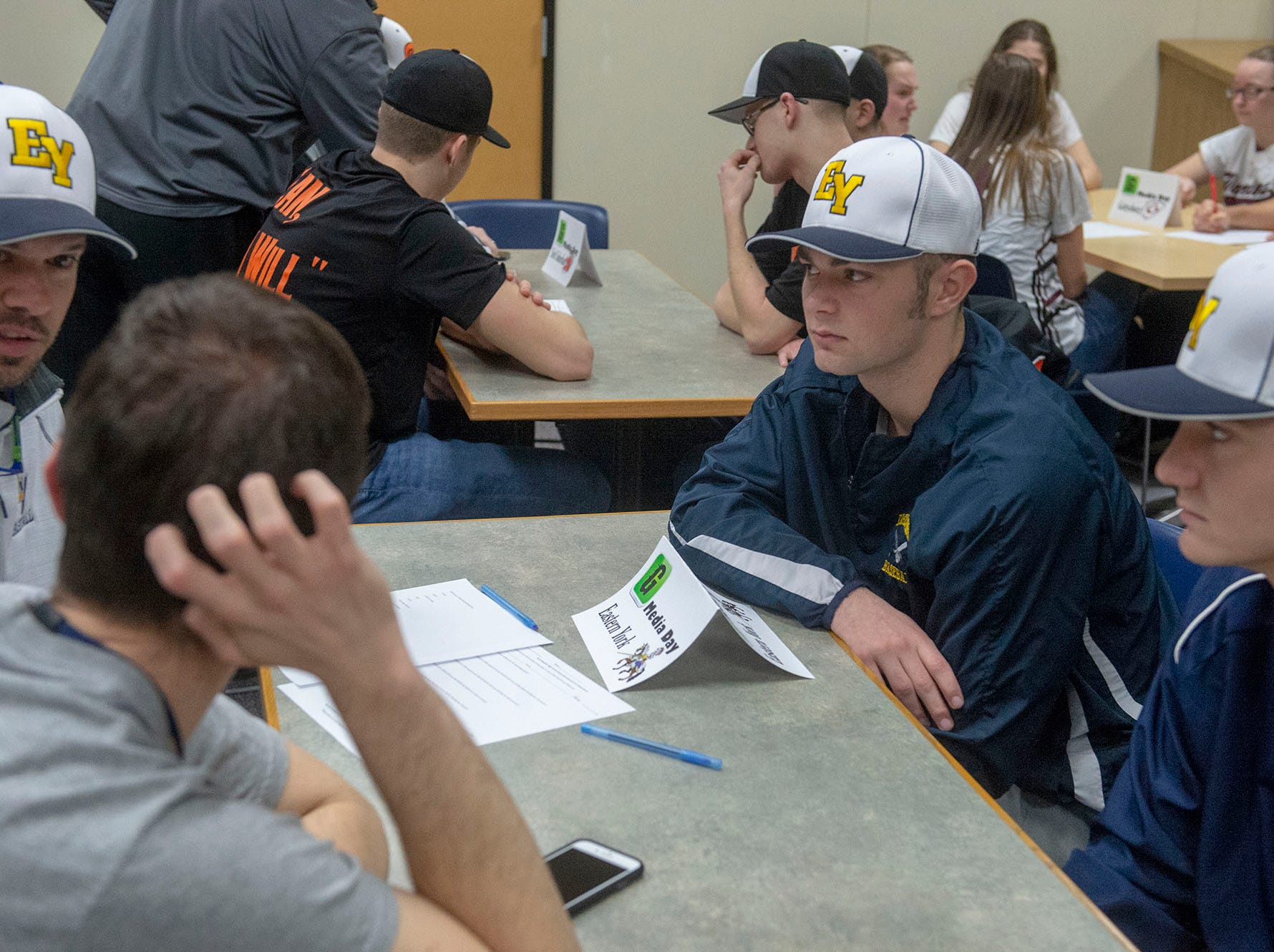 Eastern York baseball talks about the upcoming season at GameTimePA YAIAA Spring Media Day at the York Daily Record on Sunday, March 10, 2019.