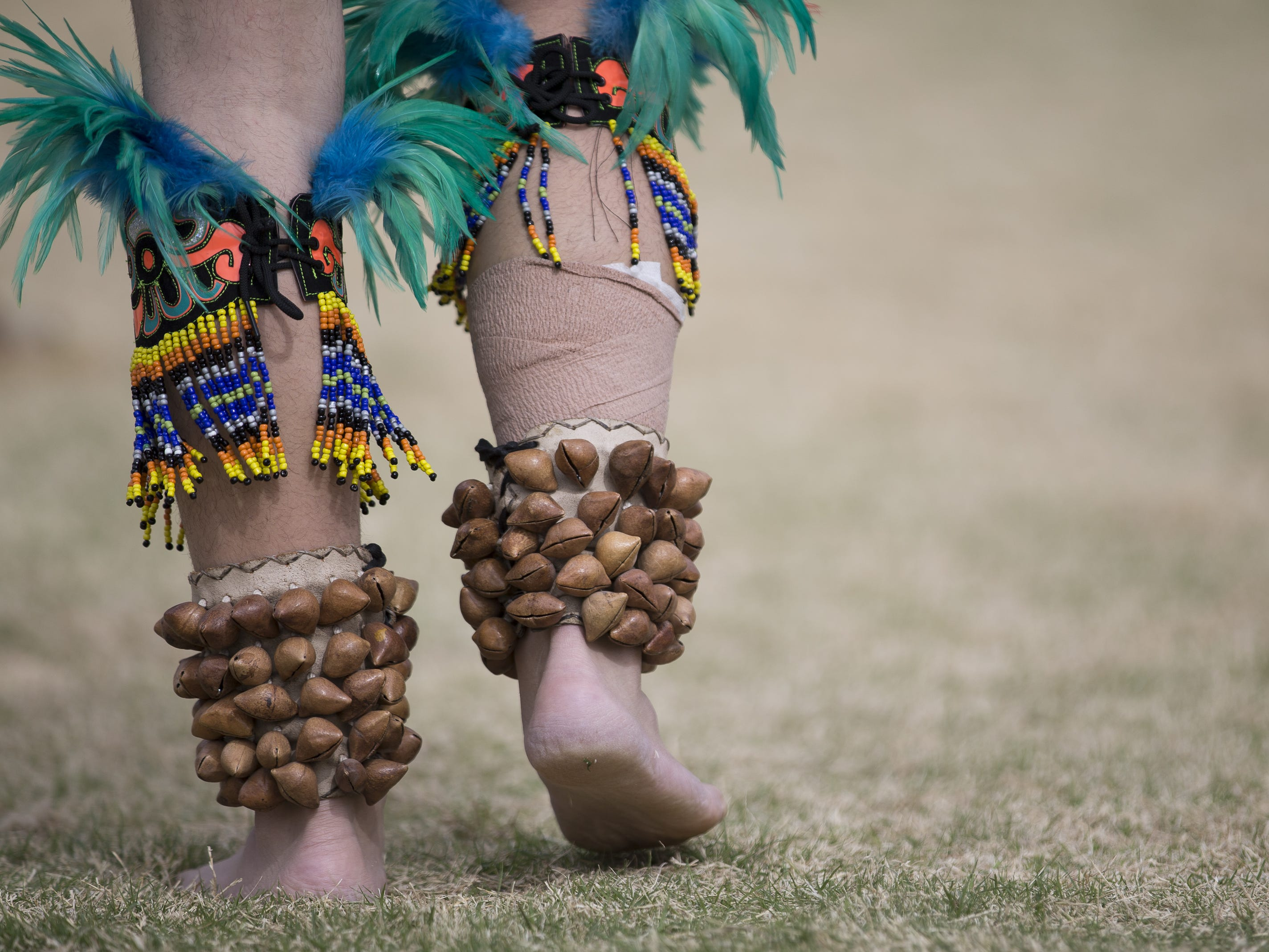 Dancers perform at the Native Two Spirit Powwow at South Mountain Community College in Phoenix, Ariz. on Saturday, March 9, 2019. The powwow was the first of its kind in Arizona, featuring members who identified as two spirit, and members who did not, dancing together.