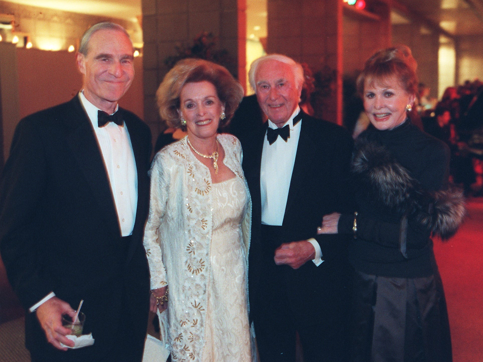 Karl Eller, Stevie Eller, Bob Berry and Kay Berry attend the Barrow Ball at the Arizona Biltmore in January 2000.