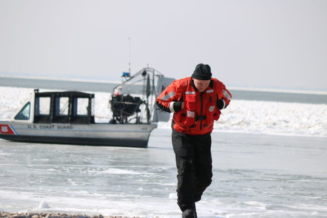 The Catawba Island Volunteer Fire Department, Catawba Island Township Police Department, U.S. Coast Guard and Ottawa County Dive Team all assisted in the rescue efforts to bring around 100 stranded fisherman from the ice.
