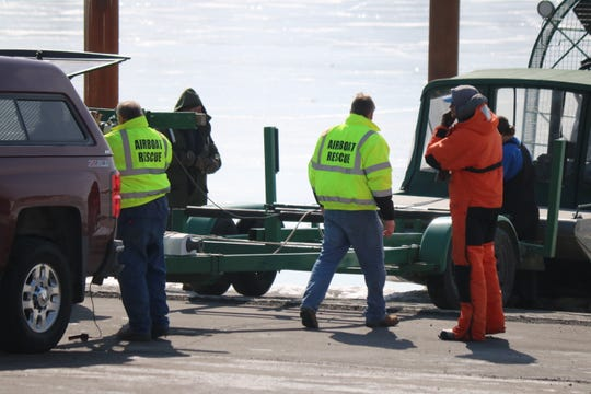 Around 100 people became stranded while out on the ice to fish and had to be rescued on Saturday morning when an ice floe opened a large area of water, cutting them off from the mainland around 8 a.m.