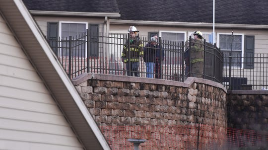 A wall collapse in a Hanover retirement community led to an evacuation of more than 20 homes, Sunday, March 10, 2019. John A. Pavoncello photo