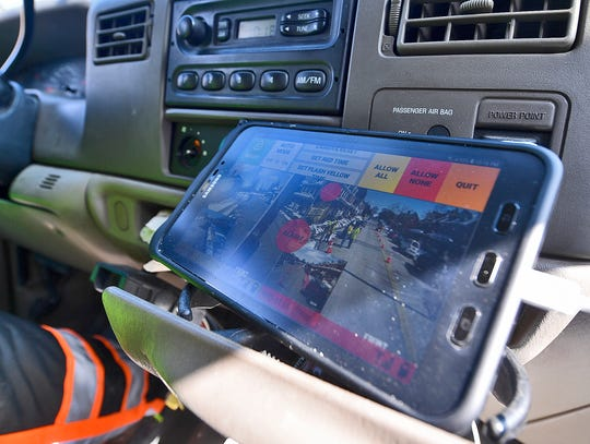 D.E. Gemmill Inc is now using smart, automated flagging devices connected through a computerized tablet with real time video, providing an alternative to placing flaggers in harm's way. Thursday, March 7, 2019 John A. Pavoncello photo