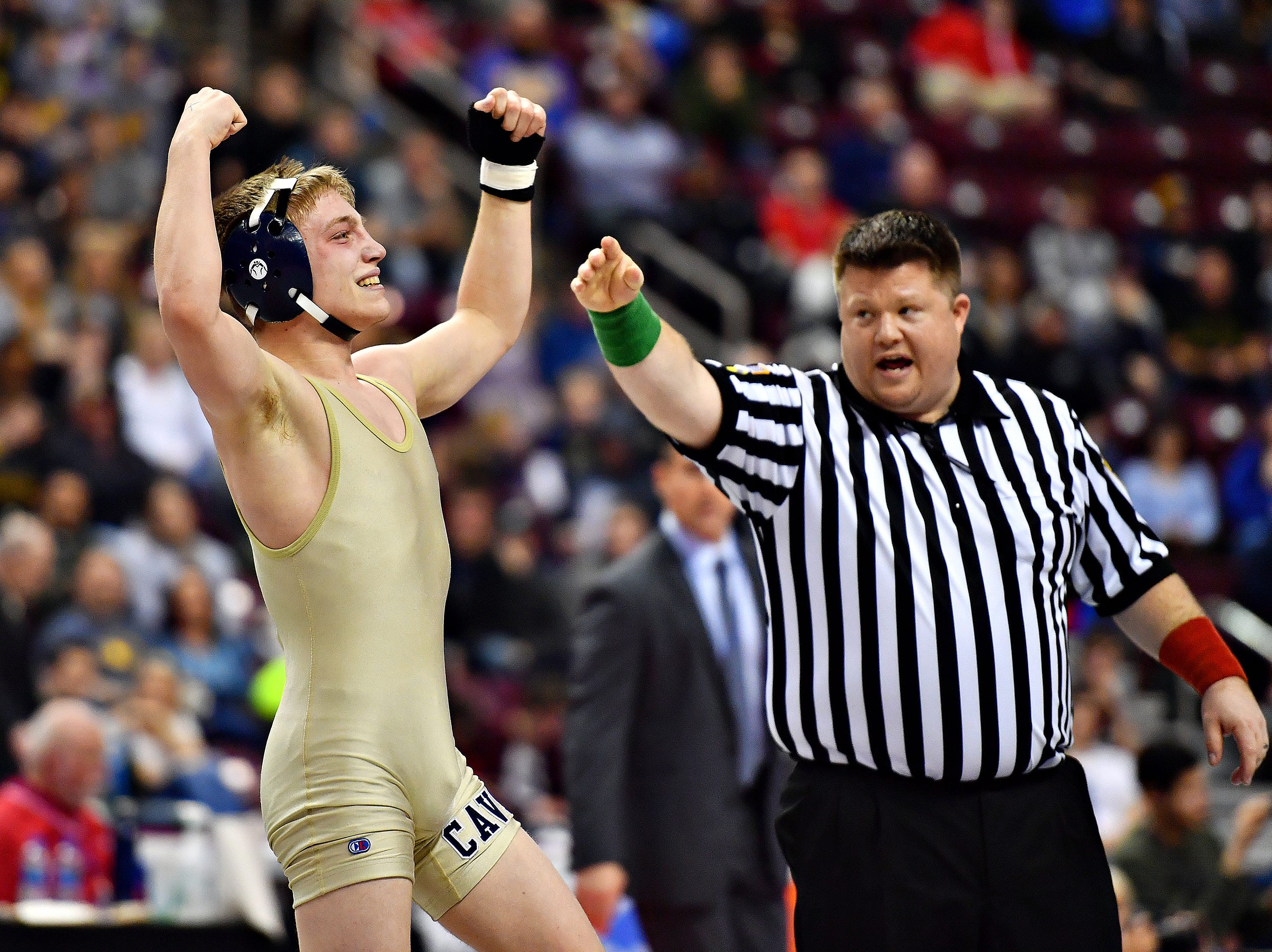 PIAA 3A Individual Wrestling Championships at Giant Center in Hershey, Saturday, March 9, 2019. Dawn J. Sagert photo