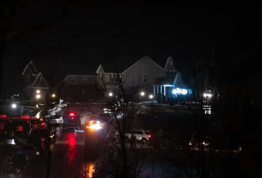 Police and emergency personnel respond to a standoff in the 100 of Louvain Drive, West Manheim Township that began on Saturday night and ended Monday morning.