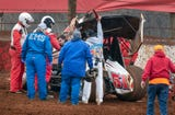 After two weeks' delay due to weather conditions, Lincoln Speedway opened to challenging conditions on a wet clay track.