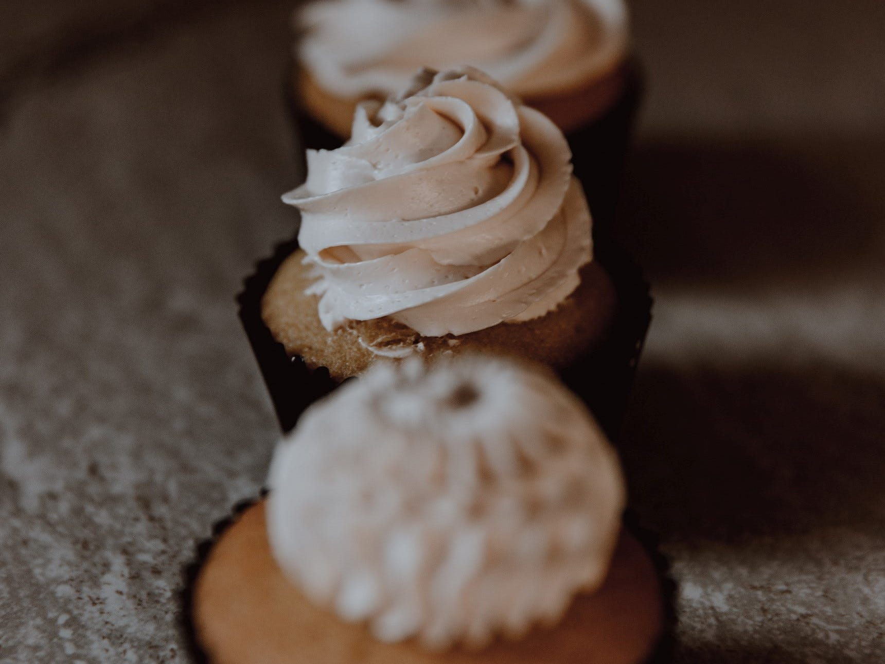 Examples of Eden Bakery's cupcakes.