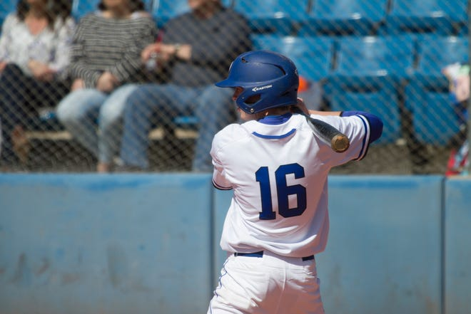 Dixie High's Ajay Leavitt (16) went 2-for-3 during the Flyers 8-4 win over Cedar on Friday afternoon.