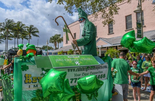 The Jensen Beach St. Patrick's Day Parade starts at 2 p.m. Sunday in downtown Jensen Beach.