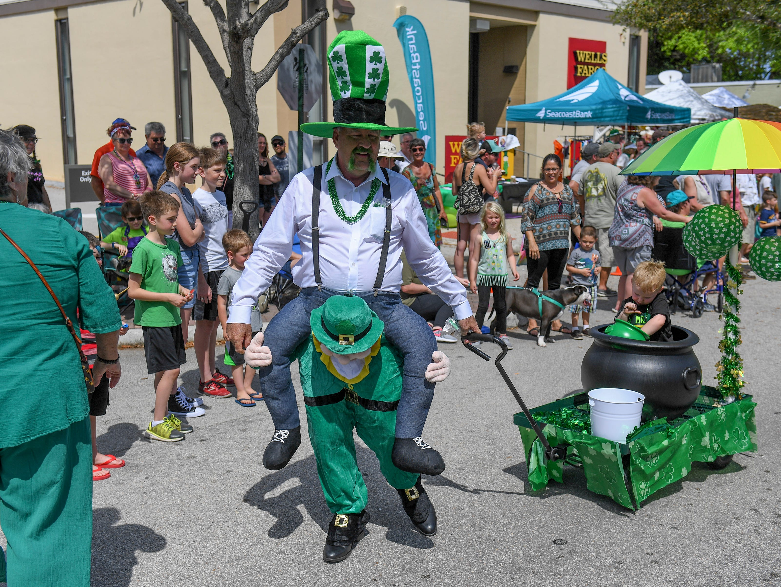 The 12th annual Jensen Beach St. Patrick's Day Parade and Festival on Sunday, March 10, 2019, in Downtown Jensen Beach.
