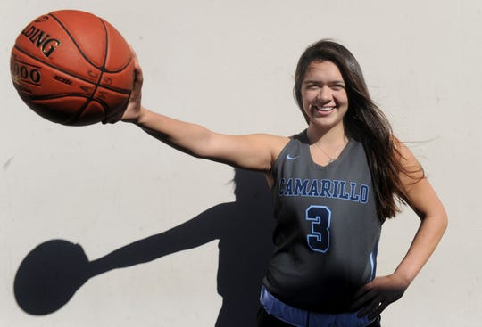 Alyssa Marin showed off her all-around game in her junior season at Camarillo High, piling up 105 assists while also averaging 18.3 points, 3.2 rebounds and 2.3 steals.