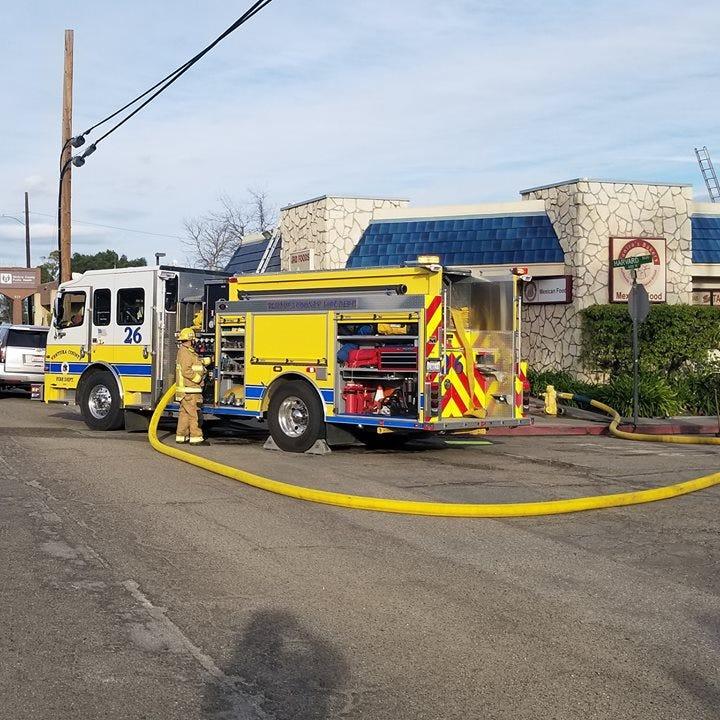 Crews battle attic blaze at Santa Paula bakery
