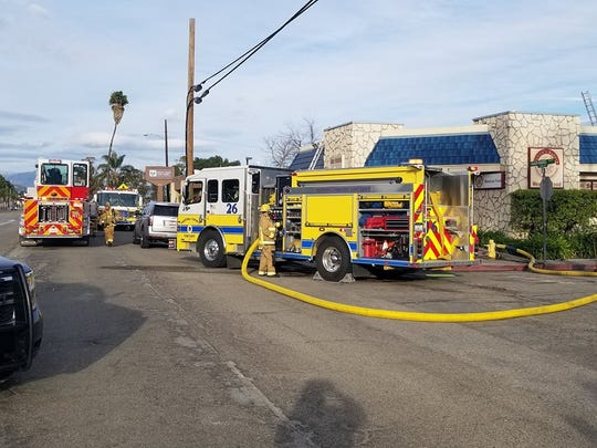 Firefighters responded to a fire inside a bakery Saturday afternoon in Santa Paula.