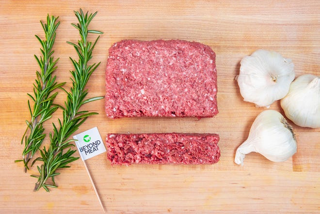 Beyond Meat, from California, claims its product delivers on the meaty taste, texture and versatility of ground beef but is made from simple plant-based ingredients.  without soy, gluten or GMOs. The USDA and FDA have agreed to oversee the production of cell-based meat products.