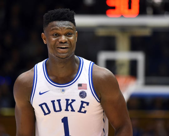 5d0473aa8b52 Duke Blue Devils forward Zion Williamson could be taken in high in the first  round of