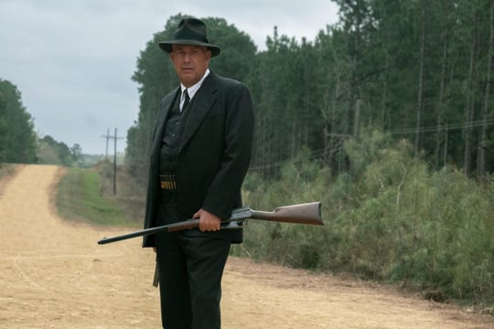 "Kevin Costner's Frank Hamer sets a trap for Bonnie and Clyde in ""The Highwaymen."""
