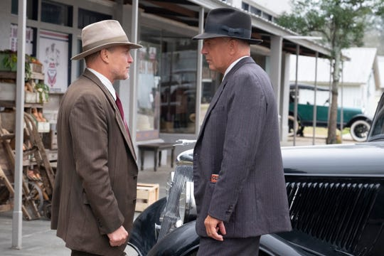 "Woody Harrelson's Maney Gault joins Kevin Costner's Frank Hamer to hunt down Bonnie and Clyde in ""The Highwaymen."""