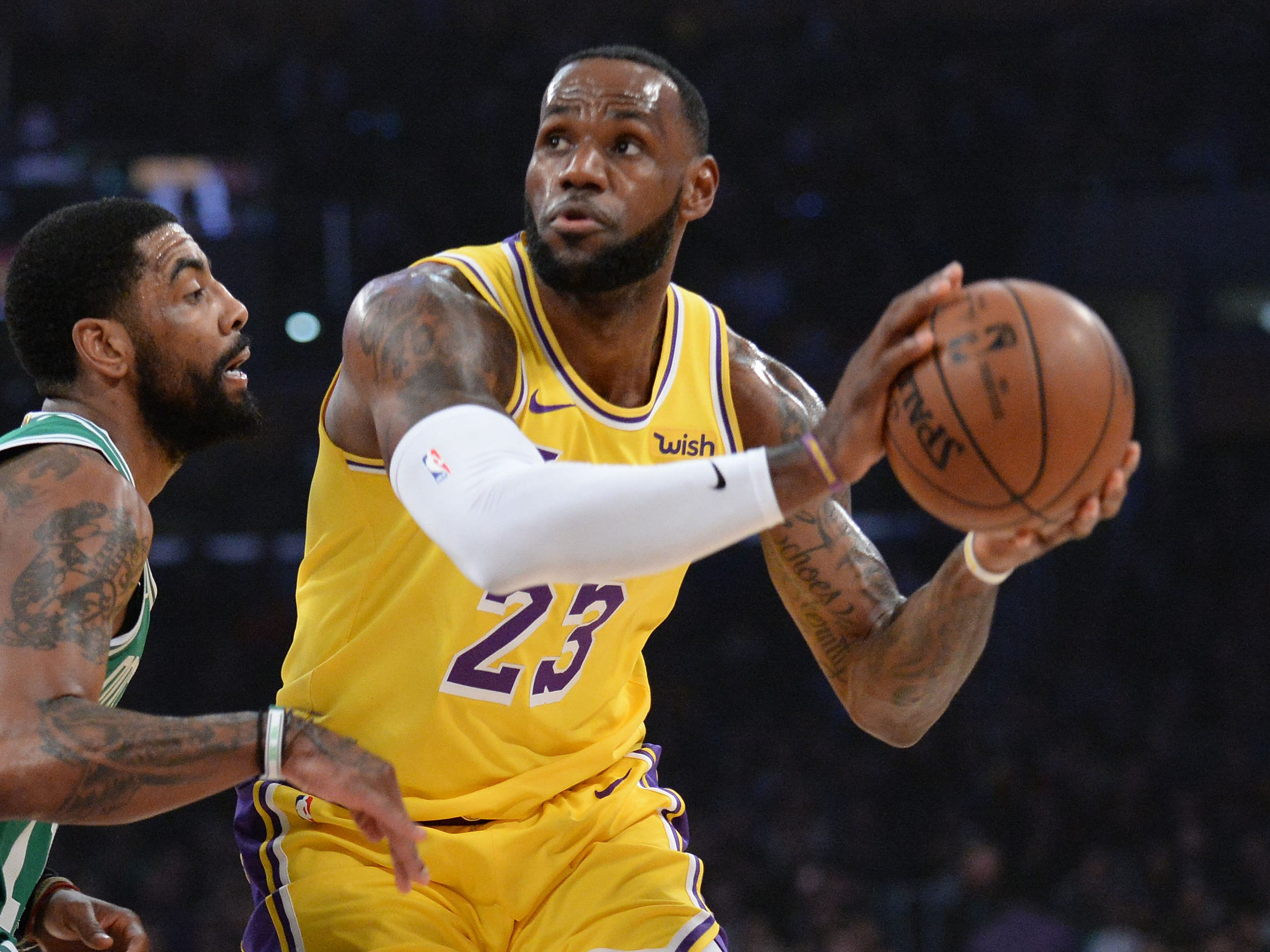96. LeBron James, Lakers (March 9): 30 points, 12 assists, 10 rebounds in 120-107 loss to Celtics (seventh of season).