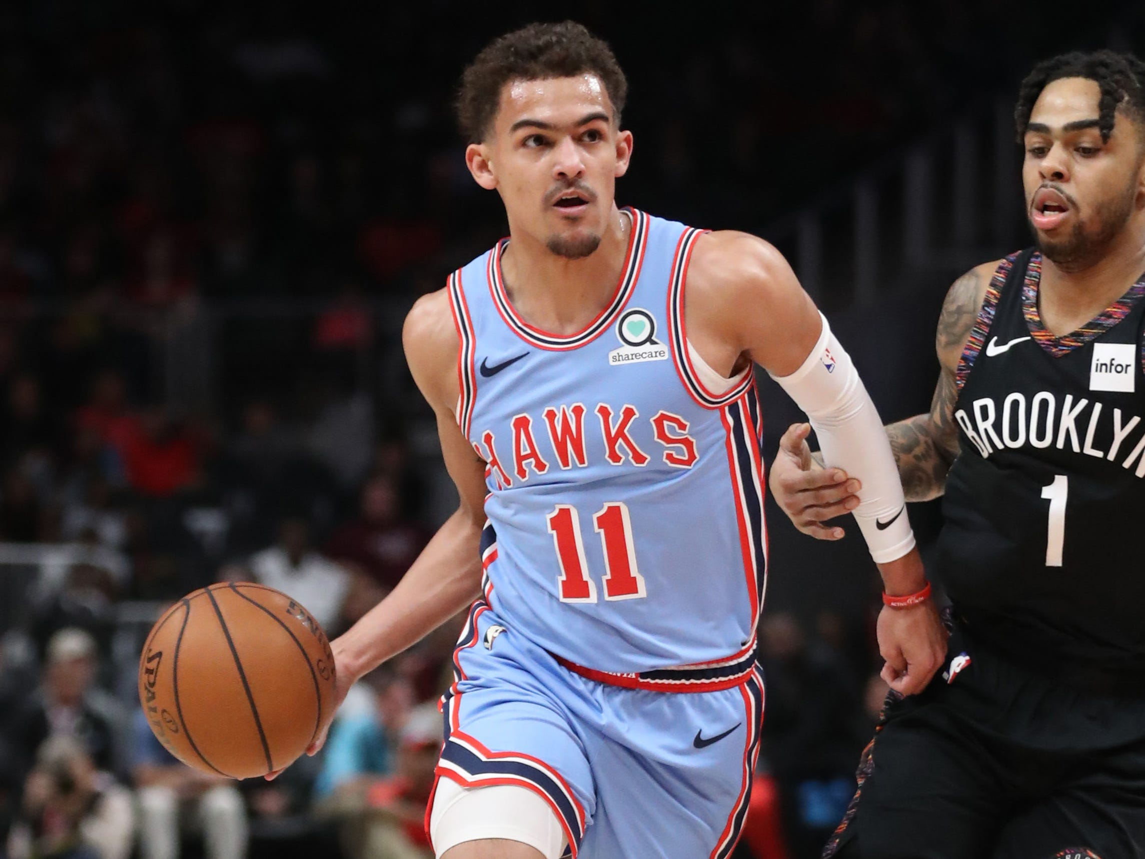 95. Trae Young, Hawks (March 9): 23 points, 11 assists, 10 rebounds in 114-112 loss to Nets.