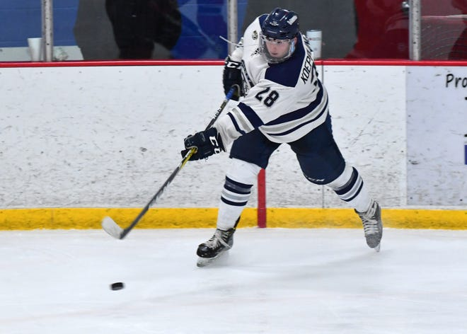 Lawrence's Josh Koepplinger earned Northern Collegiate Hockey Association all-conference honors this season.