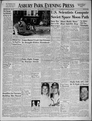 """Americans have a collective anxiety attack when the Soviet Union becomes the first nation to launch an artificial satellite or """"Sputnik"""" into orbit around the Earth. What is it doing up there? That's the question engineers at Fort Monmouth and ham radio operators up and down the Jersey Shore attempt to answer in this edition from Saturday, Oct. 5, 1957."""