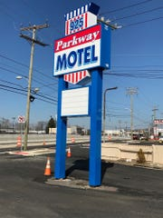 Parkway Motel sign on Route 166, Toms River