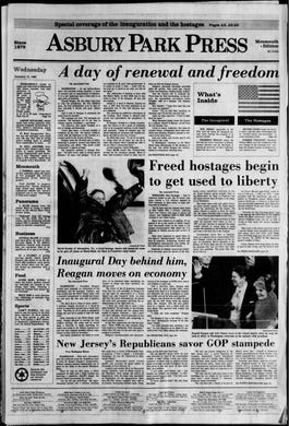 In this edition from Wednesday, Jan. 21, 1981: Ronald Reagan is inaugurated as the 40th president of the United States while simultaneously the 52 American hostages held in Iran are freed after 444 days in captivity.