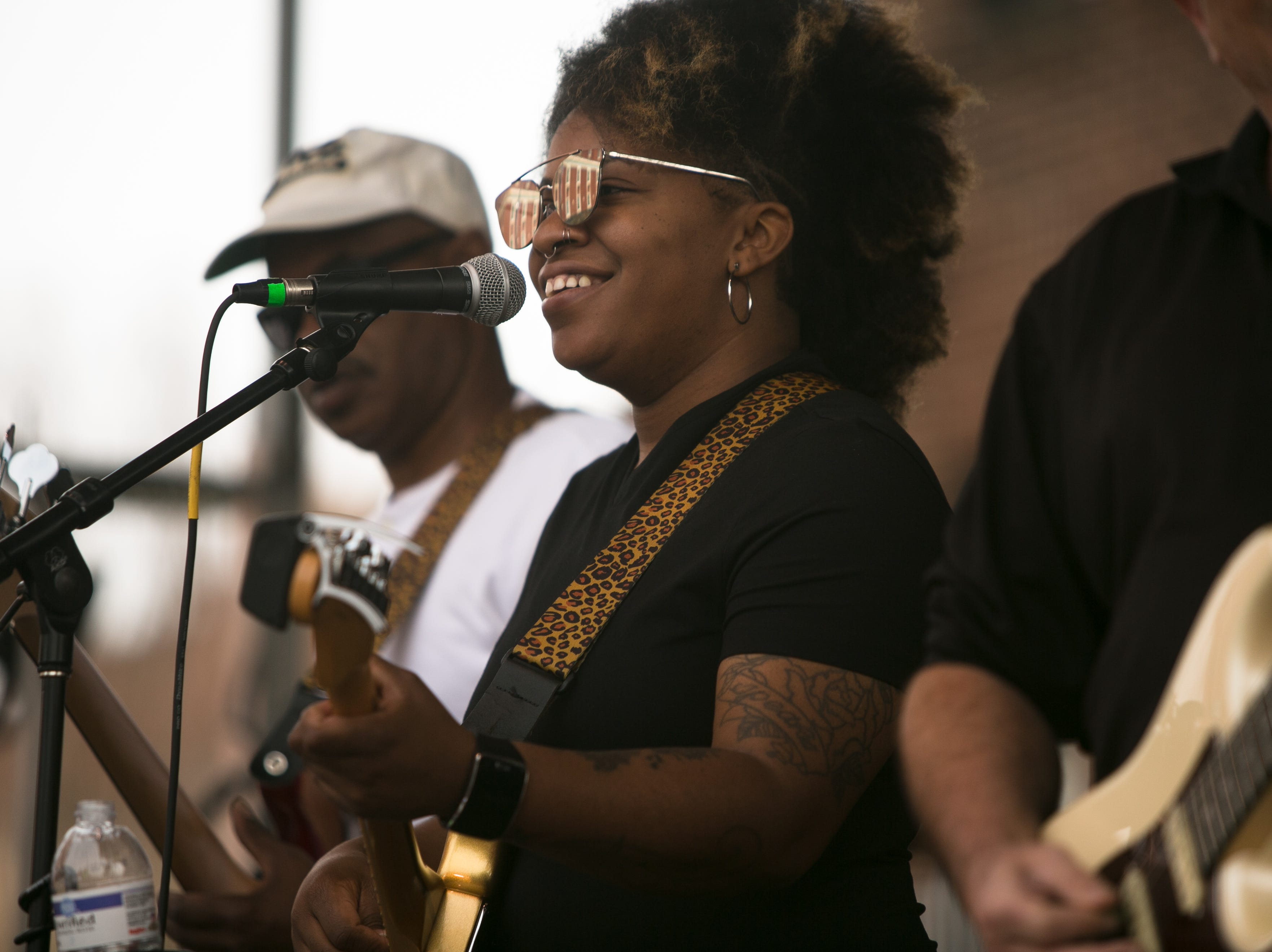 Lyric performs at the Ingles SoCon Fan Experience across the street from the U.S. Cellular Center at 68 Haywood St., in downtown Asheville, on March 10, 2019.