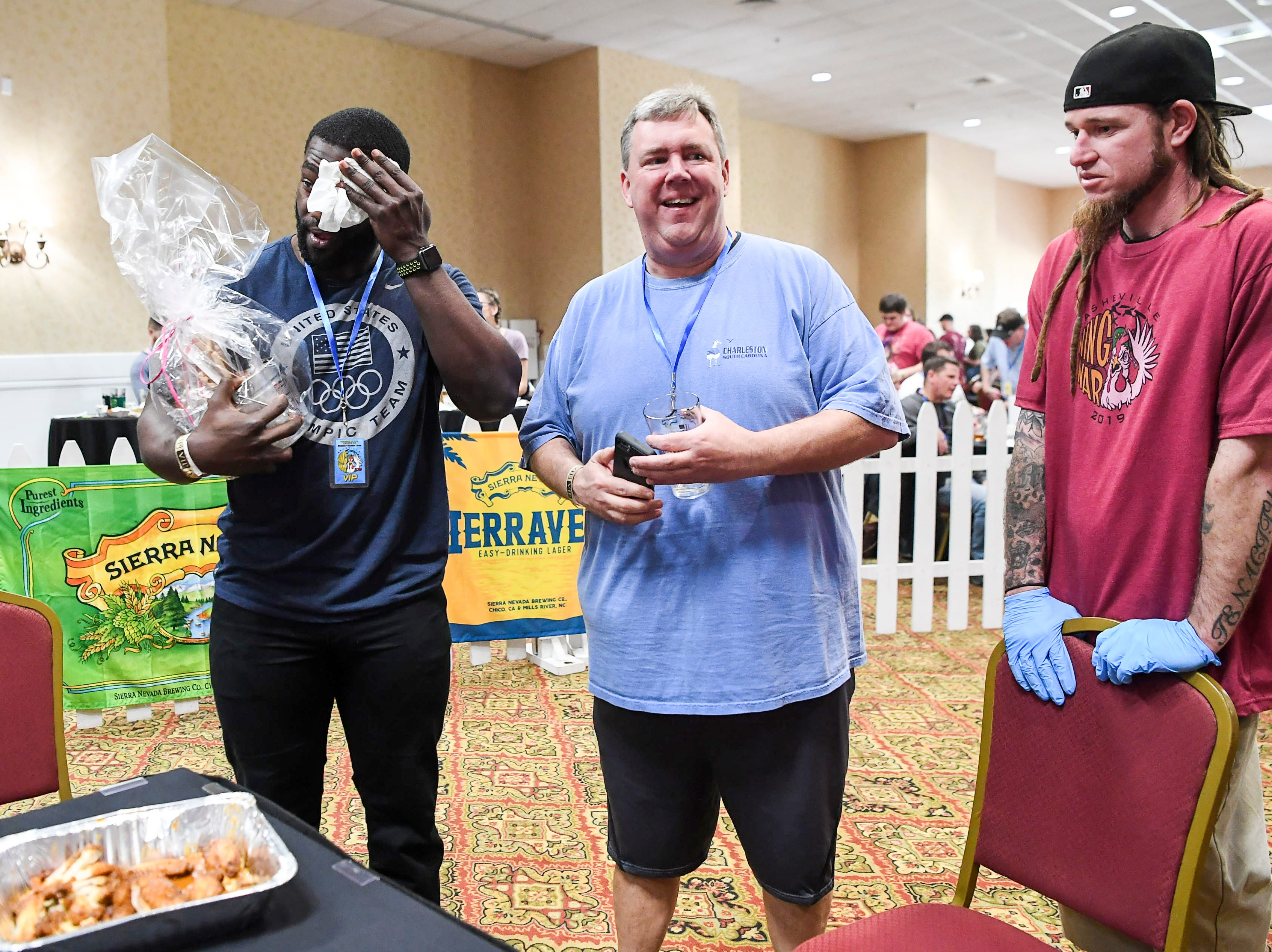 Thousands of chicken wings were battered, fried and sauced during the 8th annual Asheville Wing War at the Crowne Plaza March 10, 2019 in Asheville.