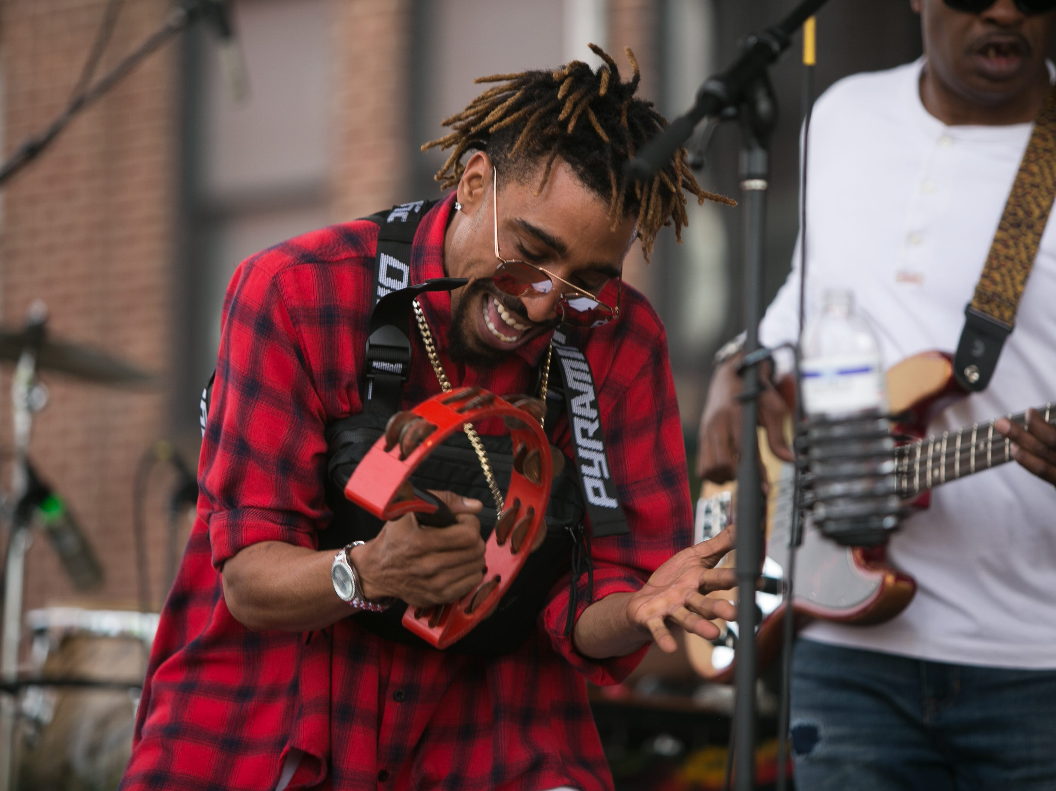 Lyric performed across the street from the U.S. Cellular Center at the Ingles SoCon Fan Experience at 68 Haywood St. in downtown Asheville on March 10, 2019,