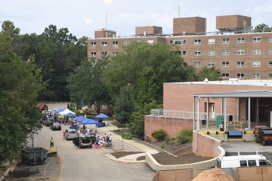 UNC Asheville on move-in day on Aug. 18, 2017. The university's Board of Trustees held an emergency meeting last week but will not disclose any information, saying meeting minutes will be provided when the board meets again next month.