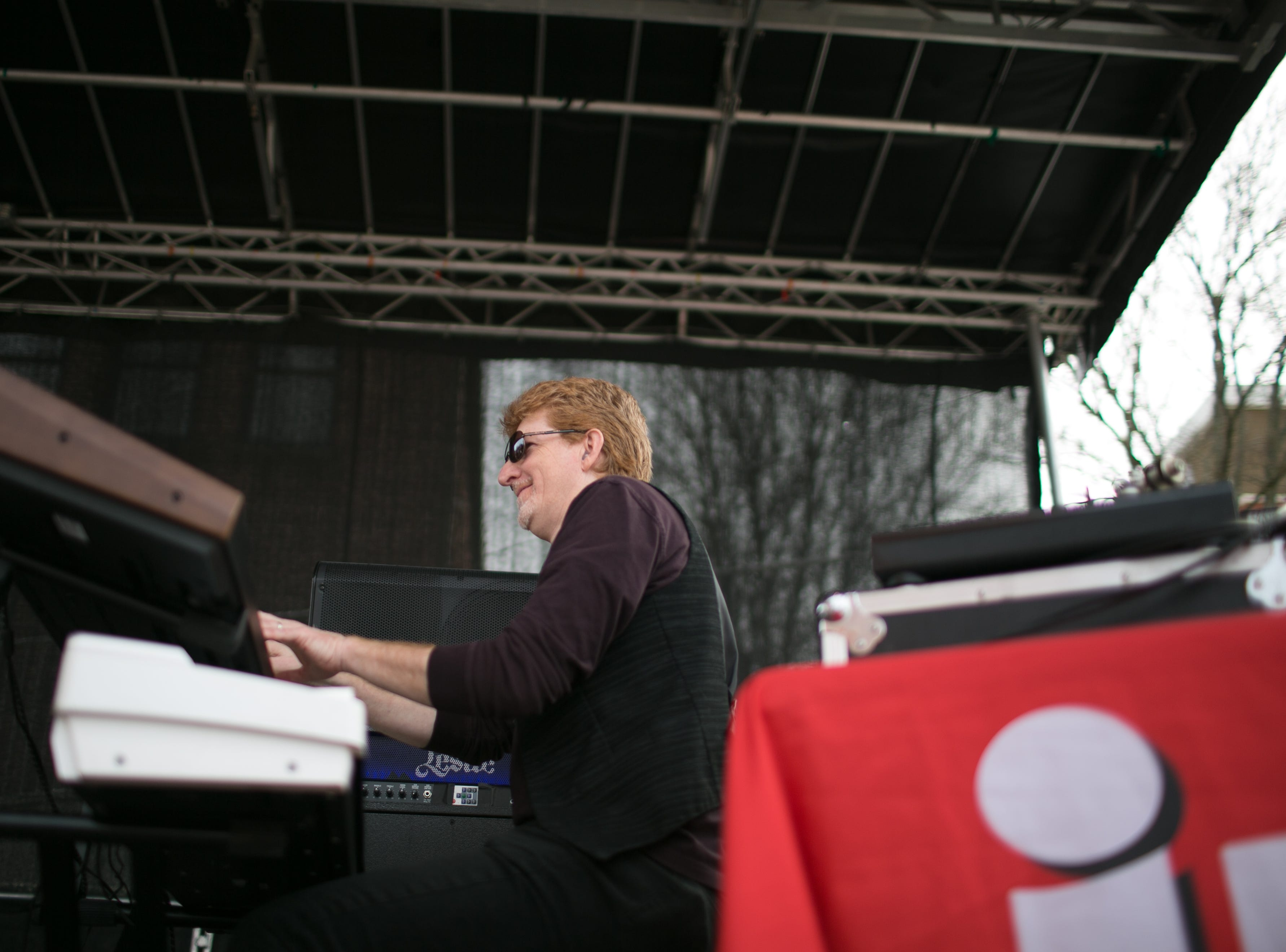 Lyric performs at the Ingles SoCon Fan Experience  across the street from the U.S. Cellular Center, at 68 Haywood St. in downtown Asheville, on March 10, 2019.