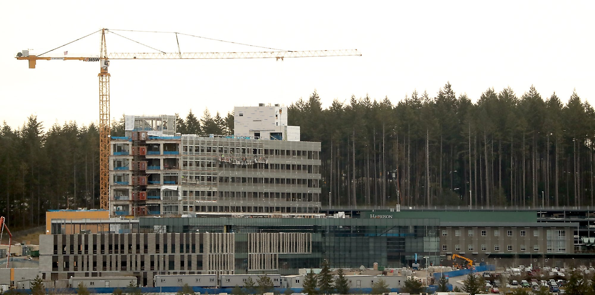 Harrison Medical Center's new hospital in Silverdale is under construction. CHI, the hospital's parent company, announced this month that the hospital will open in late 2020.