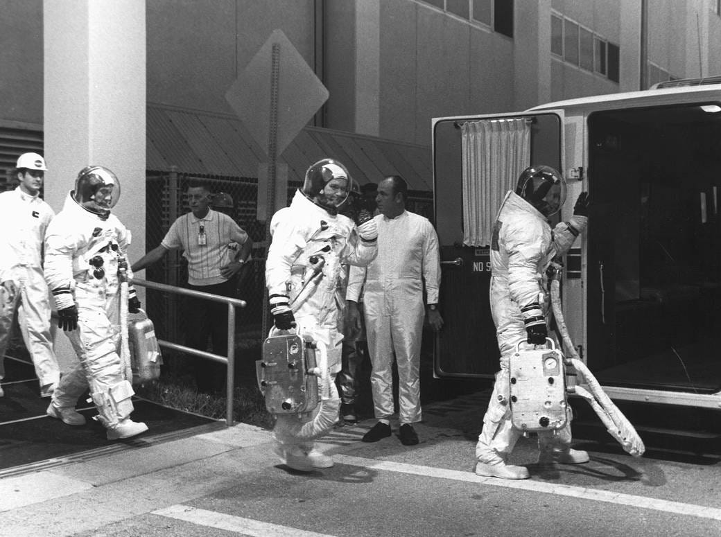 On May 25, 1961, President John F. Kennedy announced the goal of sending astronauts to the moon before the end of the decade. Eight years later at 9:32 a.m. EDT on July 16, 1969, that dream became a reality as the swing arms moved away and a plume of flame signaled the liftoff of the Apollo 11 mission.