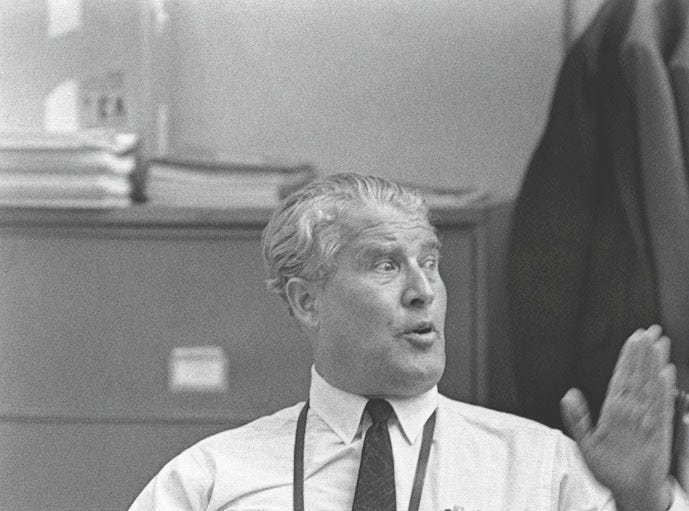 Dr. Wernher von Braun, the first director of the Marshall Space Flight Center in Huntsville, Ala., relaxes following the successful launch of Apollo 11 on July 16, 1969.